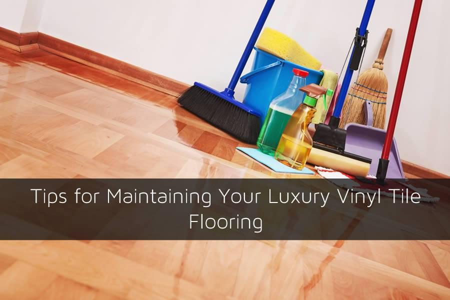 Cleaning vinyl tile floors